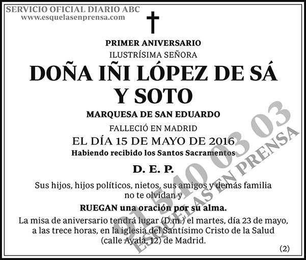 Iñi López de Sá y Soto